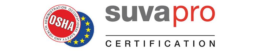 OSHA logo and behind SUVA logo