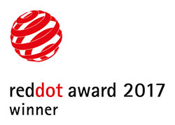 Red dot award logo.
