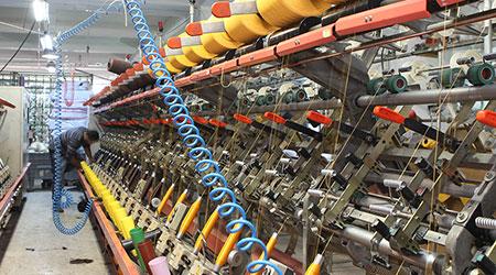A textile machin